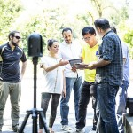 Visiting researchers learnhow to operate the BLK360, a lightweight, highly accurate close range laser scanner used to capture 3D point cloud and imagery data