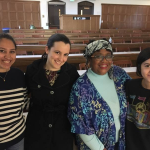 Medha Raman, Nicole Guenther, guest speaker Dahlma Llanos-Figueroa, Shannon Muscat (October 2017)