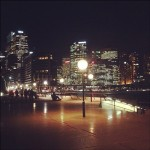 Downtown Sydney at night