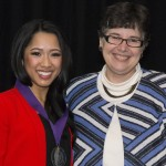 Celebration featured image - Starla Sampaco with President Ana Mari Cauce