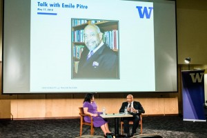 Reception & Talk with Emile Pitre