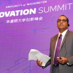 University of Washington Vice Provost for Innovation Vikram Jandhyala discusses the Puget Sound region's unique spirit of inclusive innovation during the UW's inaugural Innovation Summit, held November 13 in Shanghai, China.
