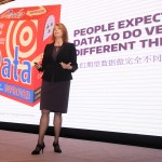 Gina Neff, University of Washington associate professor of communication, discusses data empathy during the UW's inaugural Innovation Summit, held November 13 in Shanghai, China.