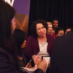 Photo of Justice Sotomayor with students