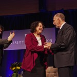 Picture of Preident Young thanking Justice Sotomayor