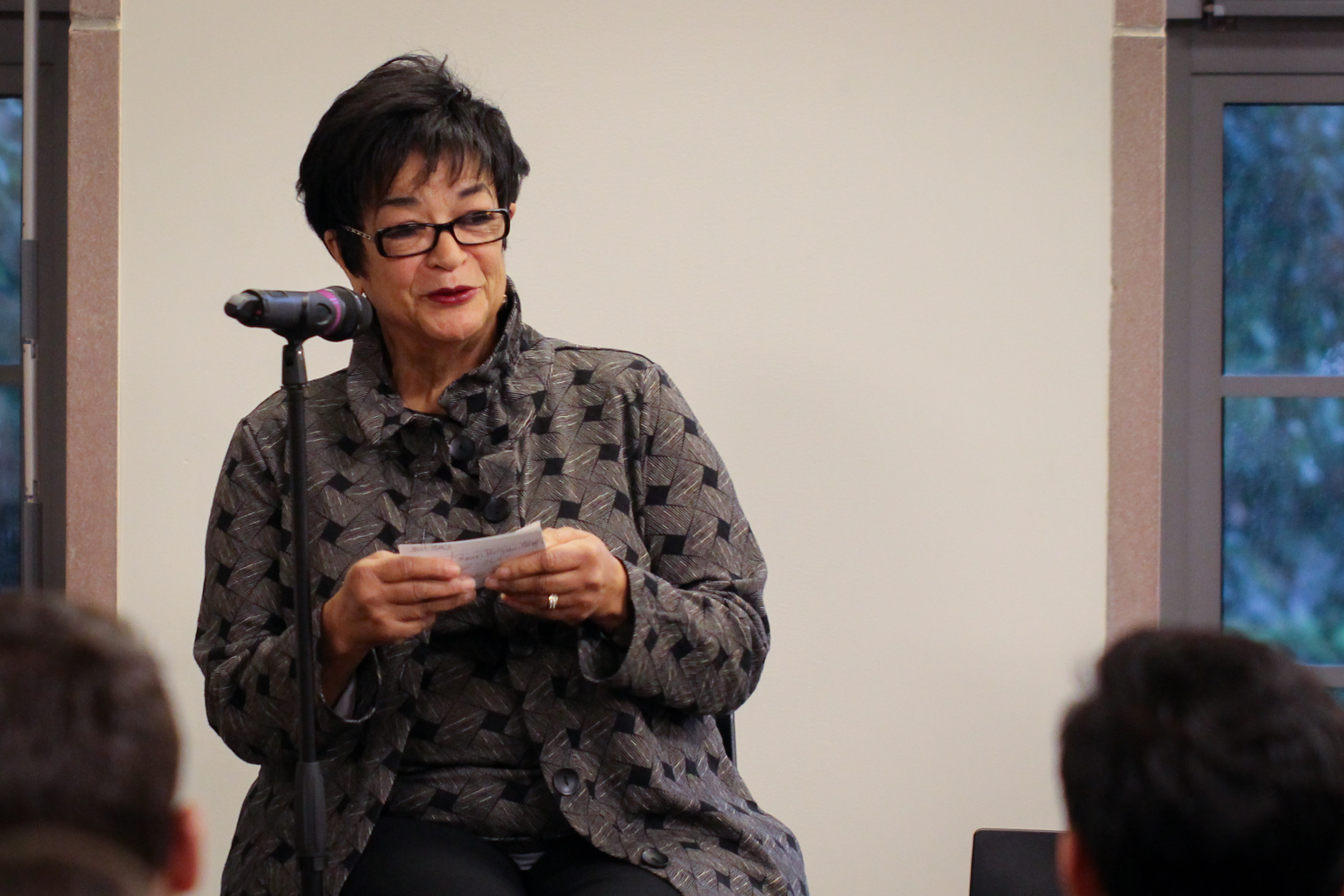 Anita Johnson Connell speaks during one of the 2018 Leadership Firesides.