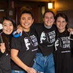 Students from the honors program pose during MLK Week 2018