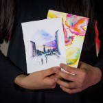 Photo of Grace Wang's illustrations