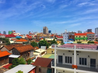 Rooftops around Phnom Penh.