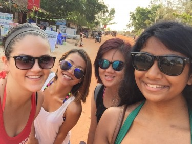 Varsha and friends from Phnom Penh spending a weekend in Sihanoukville – one of Cambodia's beaches.