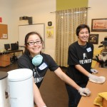 LIVE UNITED volunteers cleaning kitchn barista MLK Day 2015