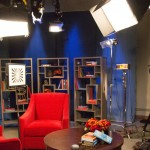 The set of Well Read, taped in Studio K and distributed on over 250 public television stations. Produced by TVW and Two Dogs Barking Productions.