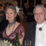 "Loveday Conquest and her husband, Fred Kleinschmidt, enjoy a ""Titanic Survivors Ball."""