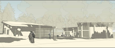 An artist's rendering of the planned Intellectual House.