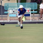 Green spaces researcher Janet Bell competes in lawn bowling at the U.S. National Championships last October in Arizona.