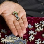 """One of the fun nuances of such high-end jigsaw puzzles is what's called a """"whimsy piece"""" -- a special piece of its own distinctive design, like a joke within a joke."""