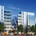 An architect's rendering of the future UW Medicine South Lake Union Phase 3.1, now under construction.