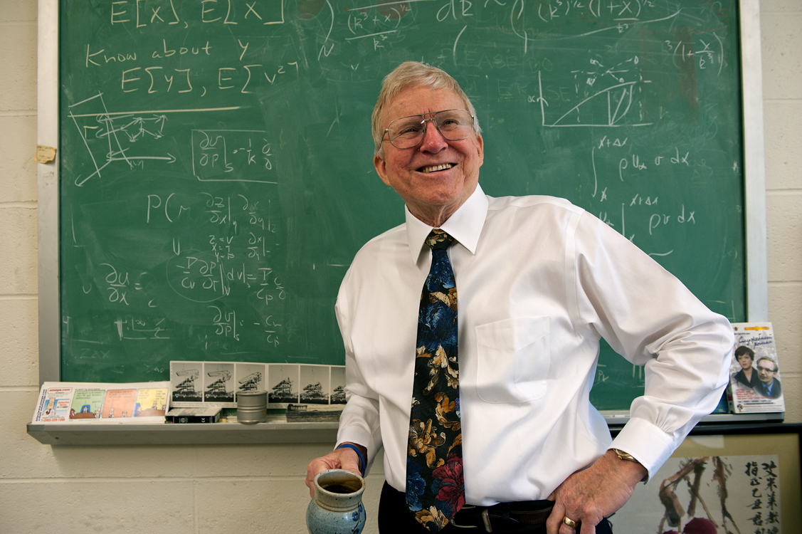 Ashley Emery, professor of mechanical engineering, has taught at the UW for 50 years now and has no plans to stop.