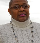 Sheila Edwards Lange spoke at the groundbreaking.