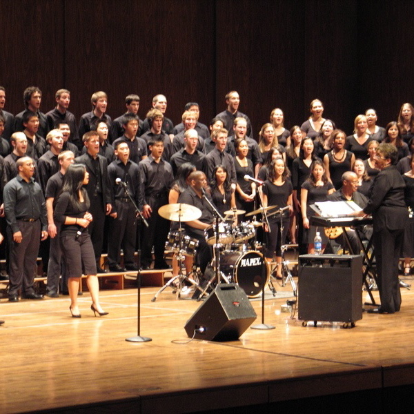 The UW's 100-voice gospel choir, led by Phyllis Byrdwell, will perform Dec. 5 in Meany Hall.