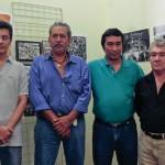 Rolando Gonzalez, Oscar Garza, Carlos Santos and Ramon Arita visit the Museo de Santa Tecla, once a Salvadoran prison where they were held as political dissidents.