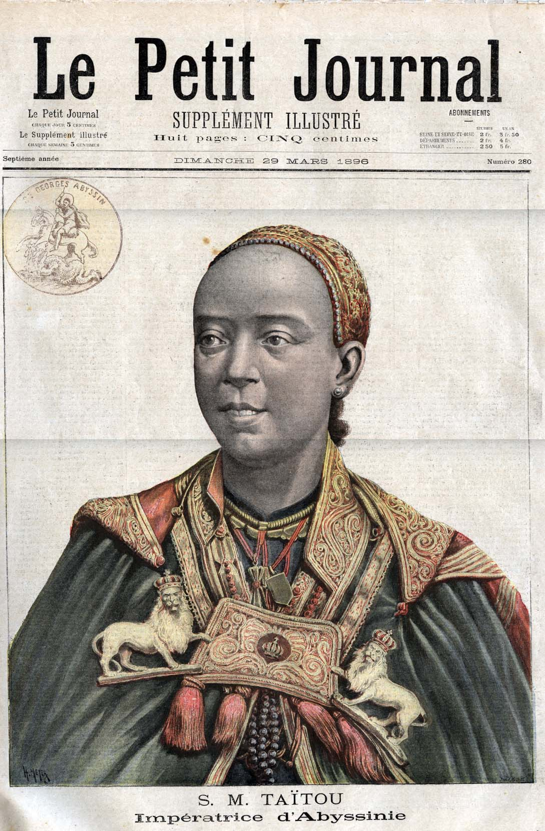 Empress Taytu, the wife of Ethiopian Emperor Menelik.