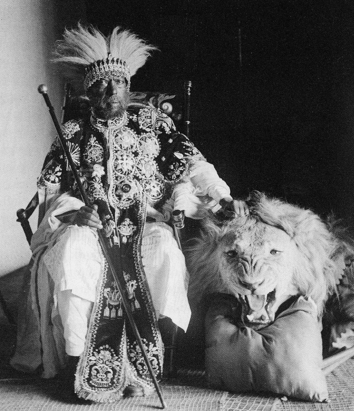 Menelik is seen in an 1896 photo.