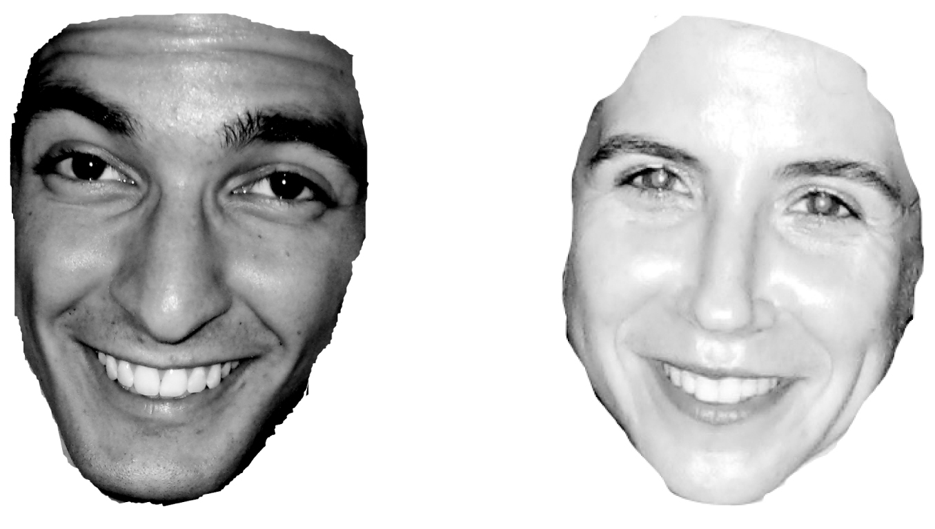 Examples of faces used in the gaydar experiment.
