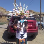 A woman in ceremonial dress on the Hopi Reservation in Arizona.