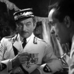 "Claude Rains and Humphrey Bogart in the 1942 film ""Casablanca"""