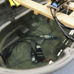 Instruments in test tank