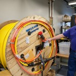 Larry Nielsen and cable spool