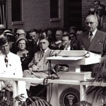 Harry Truman speaks.