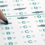 A pencil marking a standardized test.
