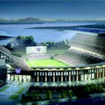 Artist's rendering of the remodeled Husky Stadium
