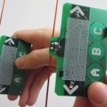 Two devices communicate without using battery power.