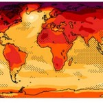 Graphic of IPCC report depicts temperatures at the end of the 21st century.