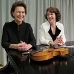 Robin McCabe, piano (left) Maria Larionoff, violin.