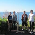 The undergraduate student team (l-r): Jeffrey Thayer,  Justin Putz (UW Bothell), Greg Hof and Sofya Malashanka.