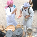 Role players in a simulated Iraqi village