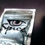 "Package of ""Spice,"" which is synthetic marijuana."