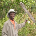 Sekou Bodian teaches high school biology in Colufifa by day and, with the help of a light bulb and a small generator, plants trees at night. By his estimate, he has planted 300,000 trees in his lifetime.