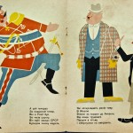 Edited by A. Shavykin, illustrated by J. Nizhnyka, this 1930 Constructivist book depicts the Pope, the capitalist, the Social Democrat, the fascist, the sky and the drunkard.