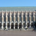 Suzzallo Library and Red Square on the University of Washington campus.
