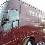 A Tea Party Express bus.