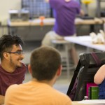 Photo of student in MakerSpace