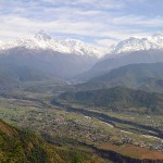 The Annapurna Massif thrones above the city of Pokhara, and has shed several cubic kilometers of earthquake debris to form the city's foundations.
