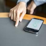 Photo of FingerIO on phone