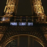 Eiffel Tower with 'Paris Climate 2015'