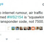 WestJet tweet screenshot